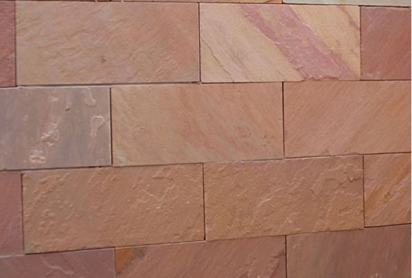 Picture of Natural Face Pink Sandstone Cladding